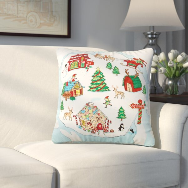 Smyrna North Pole Beaded 100% Cotton Throw Pillow by Alcott Hill